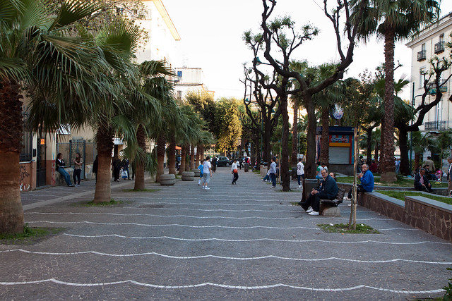 Naples. Bagnoli town life
