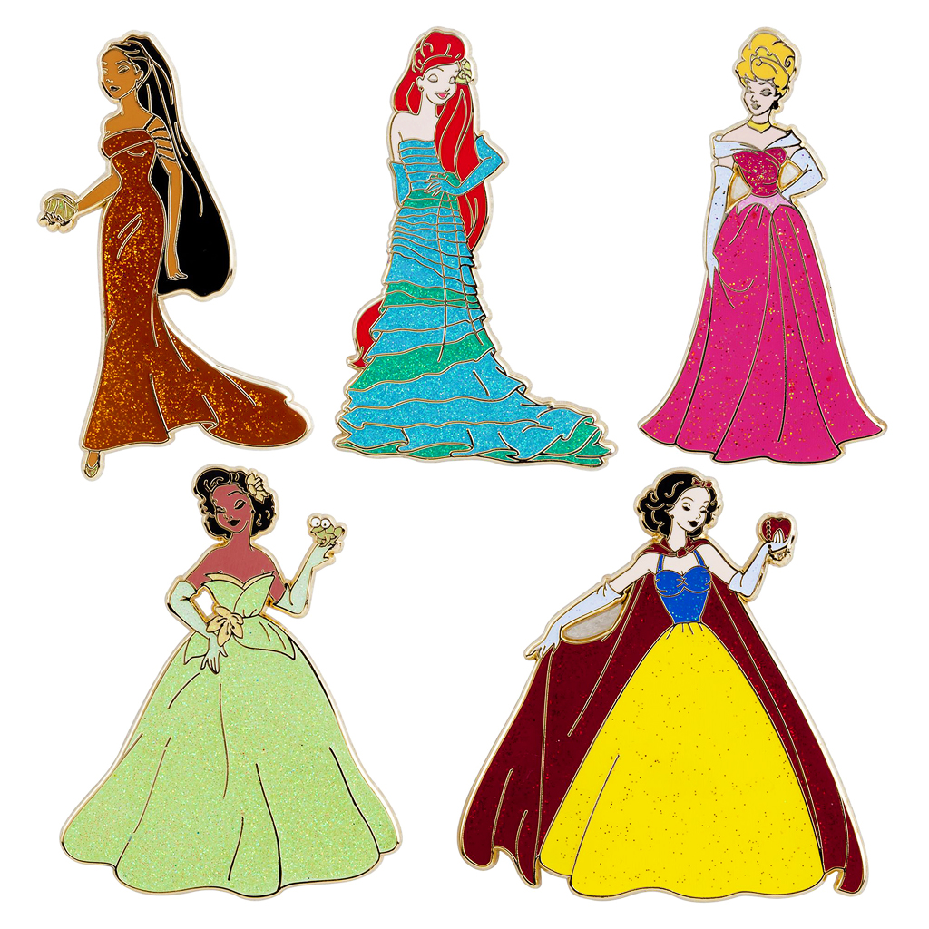 Disney Princess Designer Doll Collection Pins (3)