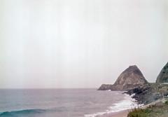 CA095 (jeffjdillon) Tags: ocean california mountain beach analog landscape pacific overcast malibu bluffs portra pointmugu
