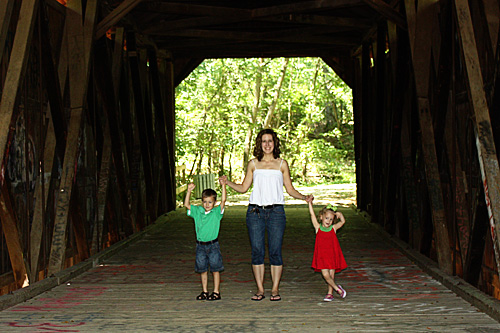 Posing-inside-bridge-me-and-kids