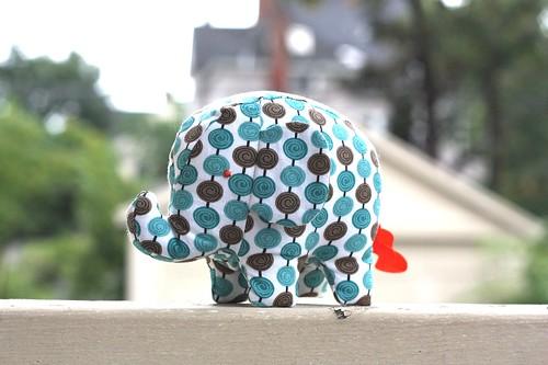 Elephant Softie-blue spots-03