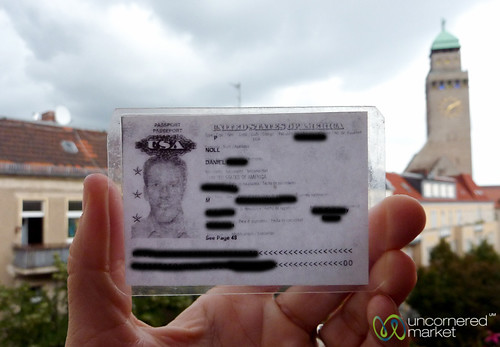 Laminated Passport Copy