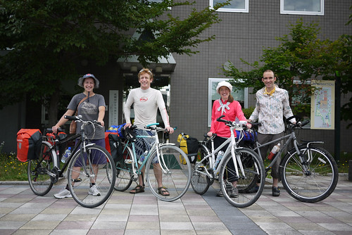 Cycling out of Sapporo, Hokkaido, Japan