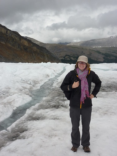 Catherine on the Athabasca Glacier