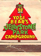 Jellystone Park (Matchbook Collector) Tags: advertising graphicdesign campground collectable matchbook yogibear hanabarbera