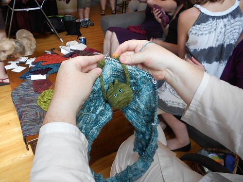 Test knitting for Jenn