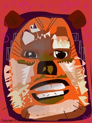 Ewok -fast combo (Cowgirl111) Tags: art club digital painting sketch finger fast ewok painter combo ipad