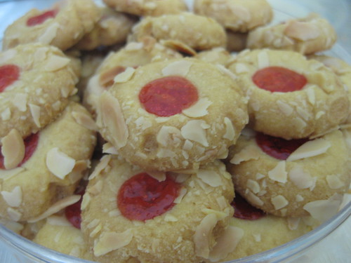 Almond Strawberry Cookies