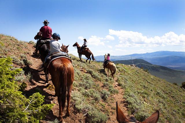 Black Mountain Colorado Dude Ranch wrangler horse ride ridge