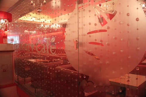 Hello Kitty Cafe  interior in Seoul South Korea