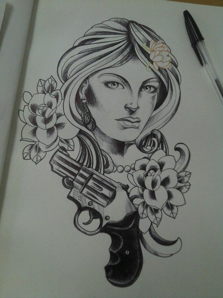 Sketch bobqueiroztattoos tags santa roses brazil flores floral phoenix birds rose brasil tattoo
