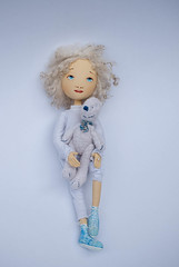 handmade Katy doll6 (romantic wonders) Tags: flowers home wool girl painting toy toys for eyes doll soft teddy natural sweet handmade spirit linen textile fabric romantic collectible selling acrylicpainting softdoll textil acrilpainting sewind textiledoll acrilpaint