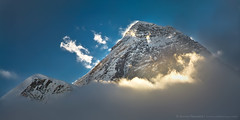 Everest (8850m) (Anton Jankovoy (www.jankovoy.com)) Tags: blue nepal sky mountain snow ice clouds mt peak everest   sagarmatha    qomolangma    chomolungma               ayrphotoscontestsummercolors