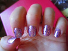 P-Polish (The Infatuated) Tags: glitter metallic nagellack confetti mauve essence nailpolish naildesign catrice letsmauveon