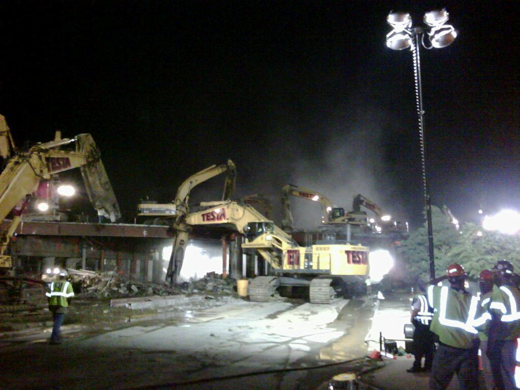 Medford 93Fast14, Final Bridge Replacement, Demolition, August 12, 2011