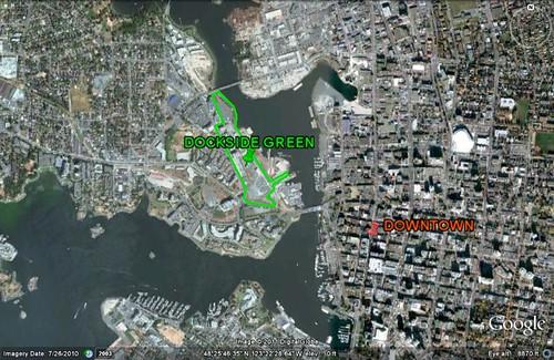 Dockside Green context (via Google Earth)