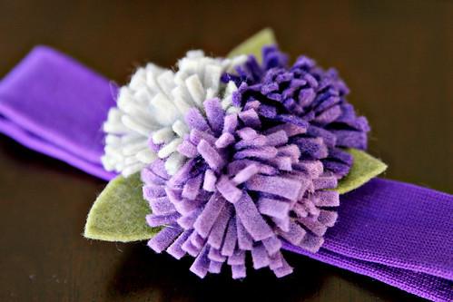Войлок Цветочный головная повязка из 14