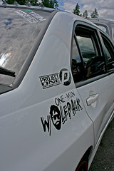 One Man Wolfpack (sami.marie) Tags: show white cars drag washington kent rides decal nos whips drift pacificraceways 2011 onemanwolfpack forumfest