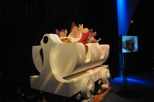 Seven Dwarfs Mine Train ride vehicle mockup