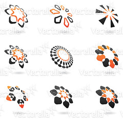 distorted abstract icons (Cidepix.com) Tags: orange abstract black color sign set modern illustration emblem circle idea design icons graphic symbol distorted drawing geometry web internet stripe style icon line collection sphere round geometrical concept elegant curve shape 2d vector template element cidepix