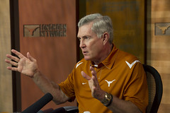 Mack Brown at the Longhorn Network preview (Bobby Longoria) Tags: austin football ut university texas cta universityoftexas ncaa texasam big12 headcoach mackbrown big12conference fall2011 bobbylongoria footballheadcoach 08182011 longhornnetwork