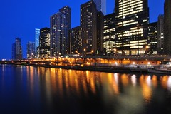 Chicago River Blues (Seth Oliver Photographic Art) Tags: chicago buildings reflections illinois nikon midwest nightimages nightlights skyscrapers iso400 cityscapes lakemichigan brightlights nightshots bluehour chicagoriver chicagoatnight pinoy downtownchicago cookcounty urbanscenes nightscapes chicagoskyline urbanscapes secondcity nightscenes cityscenes windycity longexposures chicagoist d90 nightexposures 10secondexposure wetreflections cityofchicago cityofbigshoulders autowb chicagoriverwalk upperwackerdrive manualmodeexposure cityfrontcenter setholiver1 bluehourmagic aperturef220 bluehourimages nocturneimages remotetriggeredshot 1024mmtamronuwalens ballheadtriopdmountedshot soocexceptforminorcropforcomp