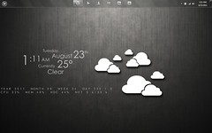 Clouds (abidouisme) Tags: desktop windows 7 customization rainmeter