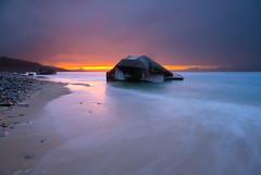 Rainy sunset (Front page) (Nicolas Rottiers) Tags: sunset beach digital canon soleil coucher pluie sigma rainy manual 1020 plage dri manche blockhaus blending bassenormandie 400d urvillenacqueville