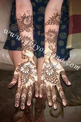 Hemali's bridal mehndi palms (Akiyohenna) Tags: wedding bride hands hand arm bridal mehendi temporary mehndi goodluck temporaryart specialoccasion mehandi mhendi akiyohenna temporarybodyart