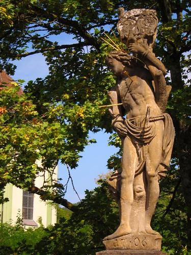 archer statue waldshut tiengen germany by Danalynn C
