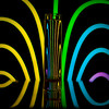 Neon Stripes (Proleshi) Tags: blue light color reflection rayas water glass azul nikon colorful neon stripes creative vivid colores h2o reflect refraction column liquid josephs jamal glassofwater d300s proleshi jamaljosephs