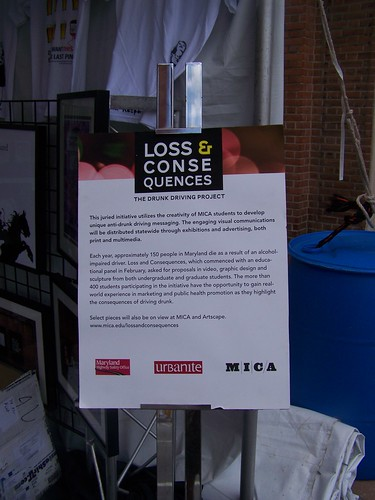 Loss and Consequences, Drink and Ride MICA graphic campaign