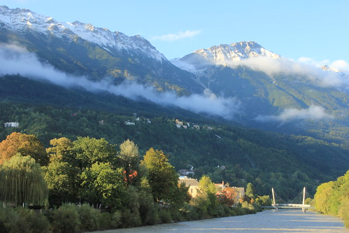 The August-snow in Innsbruck