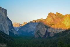 Golden Cathedral (S. Nirza) Tags: california sunset mountain nature landscape nationalpark nikon yosemite bridalveil elcapitan yosemitevalley cathedralrocks tunnelview d7000