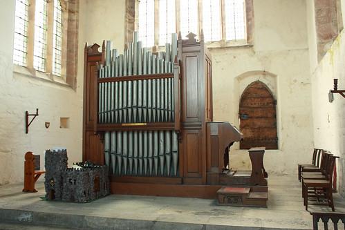 The organ, St Beuno's church, Clynnog Fawr