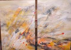 Expansion (Elfriede P) Tags: bilder abstraktemalerei acrylbilder abstraktebilder modernebilder zweiteiligebilder