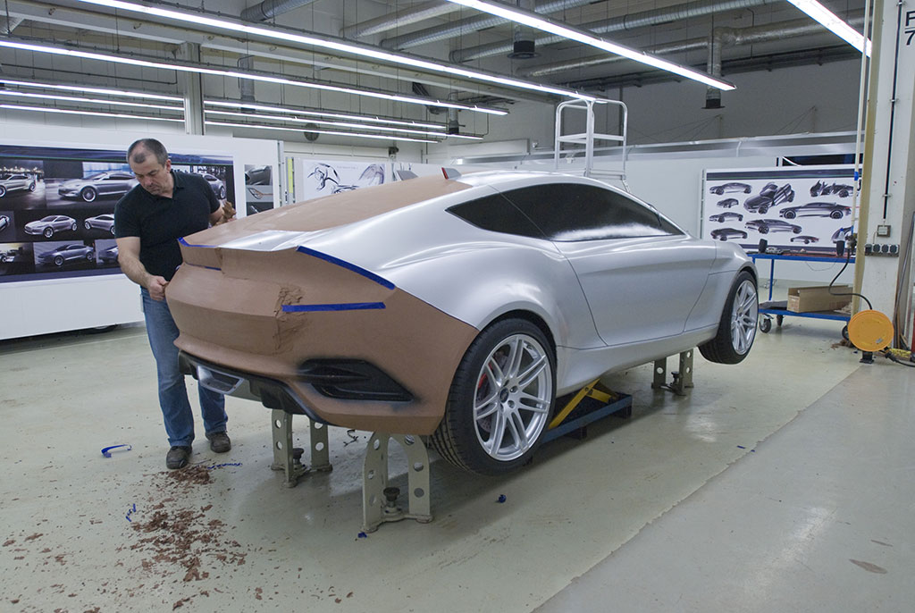 how to make a clay model car
