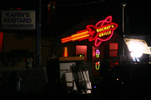 Rocket's Grille on a movie set