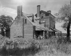 Old Birds Nest Tavern (History Rambler) Tags: old family people architecture rural vintage virginia inn south poor historic 8x10 southern tavern georgian loc antebellum chimneys decayed dormers northhamptoncounty francesbjohnston fivecourseamericanbond