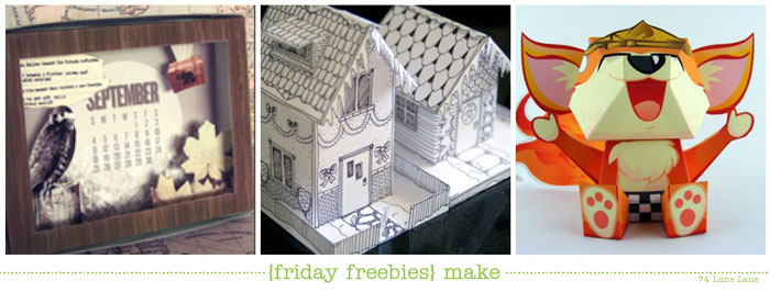 {friday freebies} make