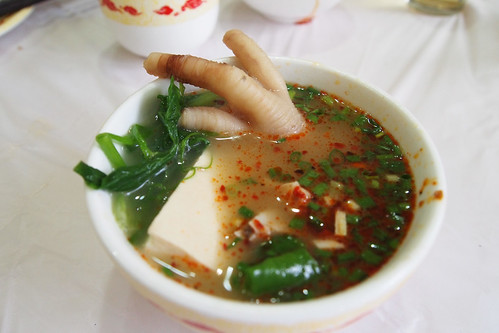 Chicken foot in broth