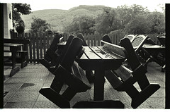 Lord Brandon's Cottage, Gap of Dunloe, Ireland (pooroldpunch) Tags: diafine kodaktrix olympusom4t omzuiko35mmf20