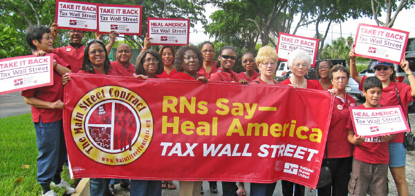 Florida nurses urge Tax on Wall Street