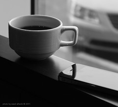 Good Morning (Saad Albalhi) Tags: bw coffee saad goodmorning fairouz      saadalharbi