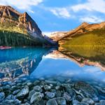Lake Louise On The Rocks