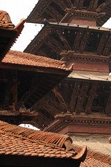 Roofs (Sunanda Chandry Koning) Tags: travel nepal color digital canon photography eos photo asia 300d powershot kathmandu patan 2009 canoneos300d bhaktapur travelphotography lalitpur april2009 sx100 may2009