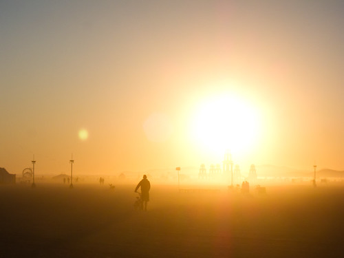 Sunrise over the Temple of Transition @ Burning Man 2011