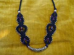 collana blu con mezzaluna in argento (patty macram) Tags: collier gioielli immagini girocollo macram macramgioielli macramcollane macrambijoux macramlavori macramaccessori macramgirocolli macramimmagini