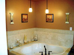 Contemporary Bathroom Design (AishahC_Interiors) Tags: ny yonkers interiordesign homedecor interiordecorating granitecountertops bathroomdesign marbletiles