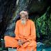 Sadhu meditating at Pavagarh